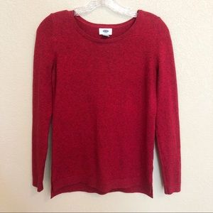 OLD NAVY Red Wide Neck Sweater Long Sleeve